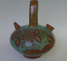 "Mexican Tonala burnished pottery urn vase by ANGEL ORTIZ 10"" tall x 8 12"" wide"