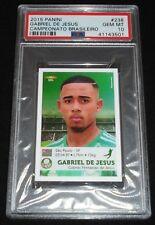 2015 Panini Brasileiro Gabriel Jesus Rookie Sticker RC PSA 10 Gem Mint POP 7