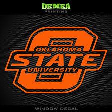 """Oklahoma State - Cowboys - Icon/Text - NCAA - Orange Vinyl Sticker Decal 5"""""""