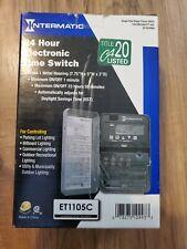 INTERMATIC ET1105C Electronic Timer,24 hr,SPST
