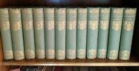 1924 set 12 Books -  Novels of the Sisters Bronte Thornton Edition Scott