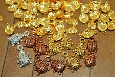 85 pieces of metal Ladybug Charms-  Gold Plated, Copper - Was $15 - A1215a+