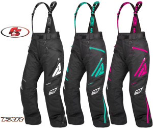 2020 FXR Women's Vertical Pro Snowmobile Pants Bibs Black 10 10 short 16