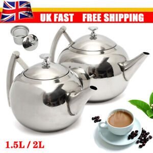 Large Capacity Stainless Steel Teapot Stovetop Kettle Coffee Pot Kitchen Filter