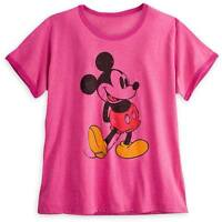 Disney Store Mickey Mouse Pink Classic Ringer Womens T Shirt Tee Size XS NWT