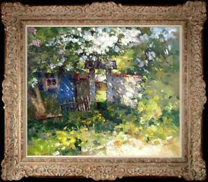 "Hand painted Oil painting original Art Landscape Flower on canvas 20""x24"""