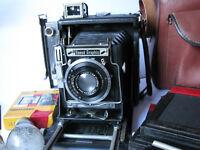 "Graflex Speed Graphic 2x3"" - Carl Zeiss Tessar f4.5 105mm - w/ Bag, Extras ....."