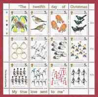 GUERNSEY 1984 CHRISTMAS SHEETLET OF 12 Mint Never Hinged/MNH