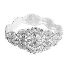 Rhinestone Wedding Bridal Belt Party Dress Crystal Applique Sash Sewing Beaded