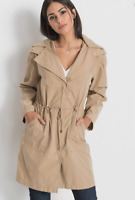 Lightweight, Unlined Zip Front Parka Style Coat with Removable Hood Plus size 22