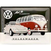 VW Volkswagen Meet The Classics Grande Goffrato Segno Del Metallo 400mm x 300mm