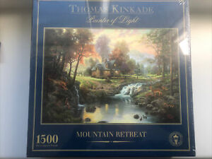 1500 Piece Jigsaw Mountain Retreat Thomas Kinkade Painter of Light Gibsons
