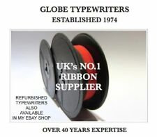 1 'OLYMPIA' *BLACK/RED* TYPEWRITER RIBBON *FOR MOST OLD MACHINES* *TWIN SPOOL*