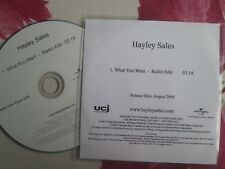 Hayley Sales – What You Want Label: Universal Records / UCJ Promo UK CD Single