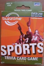 Buzztime Sports Trivia Card Game Series 3 Over 200 Questions 2007 Ages 10 & Up