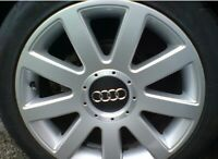 AUDI-Black Center Caps 146mm 2001-2006  A4 A6 S4 TT S6 A8 A3 A2 US Seller!!