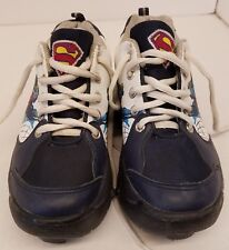 STREET FLYERS SUPERMAN~YOUTH SIZE 1~SHOES CONVERT TO ROLLER SKATES~PUSH BUTTON