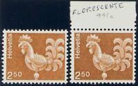 Suiza. MNH Yv 991a. 1975. 2´50 F Castaño. Paper No Fosforescente. Magnifico