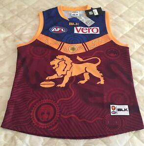 2016 Brisbane Lions BLK Indigenous Round Guernsey / Jumper