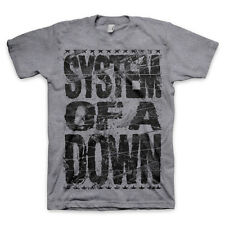 System Of A Down-Shattered Logo-X-Large Heather Gray Tri-Blend T-shirt