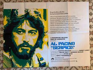 Uk Quad Film Poster Serpico 1973 In Good Condition