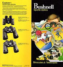 Bushnell Sports Optics Binoculars & Telescope 1979 Brochure Various Models