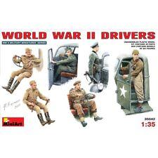 1:35 WWII Driver Figurines - Miniart 135 Drivers Kit Min35042 World War Ii