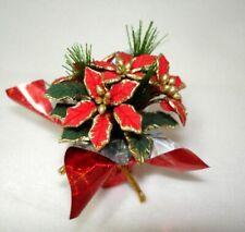 Dollhouse Handcraft Foil Wrapped Christmas Poinsettia Miniatures for Doll House