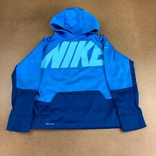Nike Dri-Fit Boys Youth Size Large Blue Long Sleeve Pullover Hoodie