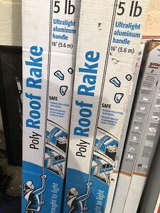 16' 5 lb Poly Blade Snow Roof Rake