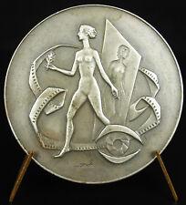 Médaille femme nue Festival de cinéma de Liège 1973 Belque Belgium Lidge Medal