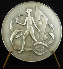 Medaille Damen Unbedeckt Festival Kino De Liège 1973 Belque Belgium Lidge