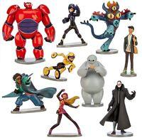 Big Hero 6 Baymax Hiro Playset 9 Figure Cake Topper * USA SELLER* Toy Doll Set