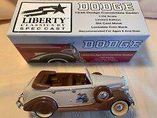 DODGE 1936 SEDAN CONVERTIBLE LIBERTY CLASSICS SPEC CAST COIN BANK AACA 100TH.