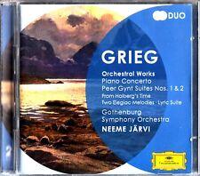 Grieg: Orchestral Works GSO 2-CD JARVI Piano Concerto/Elegiac Melodies (2011)