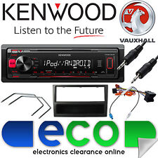 Vauxhall Zafira B KENWOOD Car Stereo Radio Mechless MP3 AUX Player Kit Black