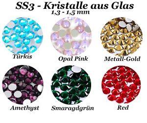 SS3 Kristalle aus Glas Nageldesign Nail Art Strass Stein Steinchen Profiqualität