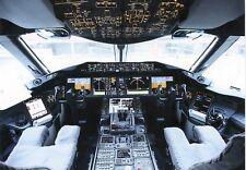 Airline Issue Postcard BA B787 Dreamliner cockpit