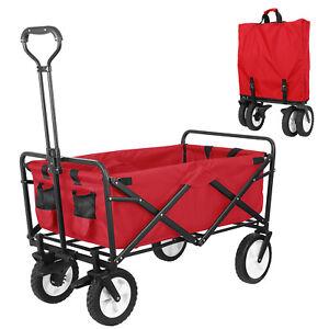 Harper/&Bright Designs Folding Push Wagon Cart Utility Shopping Cart Wagons/Sturdy Portable Folding Wagon Rolling Lightweight Buggies for Shopping Clamping Garden Sport Outdoor Activities/
