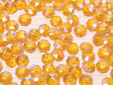 T080 Transparent Iridescent Orange Flower Beads Scrapbooking DIY 100pcs