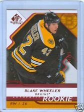 BLAKE WHEELER 08-09 SP GAME USED RC CARD #8/25 MINT