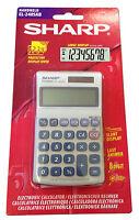 Sharp Handheld Desk Top Calculator EL240SAB Basic 8 Digit Desktop Solar Powered