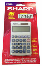 Sharp Handheld Desk Top Calculator EL240SAB Basic 8 Digit Desktop Solar Powered