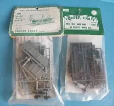 2 x Bagged Cooper Craft Plastic OO Gauge 4mm Kit 1002 - GWR N13 Loco Coal Wagon