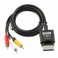 Microsoft XBox 360 AV Composite Audio Video Cable Black X821376-001 / Excellent