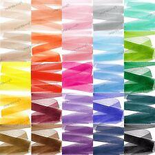 Woven Edge Sheer Organza Ribbon - 6mm 10mm 16mm 25mm 38mm 50mm Various Colours