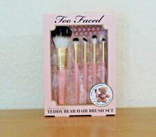Too Faced Pro-Essential Teddy Bear Hair Brush Set NEW NIB AUTHENTIC $65 VALUE
