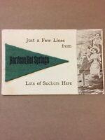 Postcard, Felt Penant, Harrison Hot Springs B.C. Canada, Vintage P24