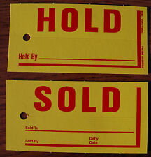 Sold Hold Tags, Jumbo sold hold tags, vehicle sold hold tags, dealer supplies