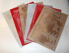 Set of 6 Large Christmas Placemats Snowflake Reindeer Dinning Room Table Mats